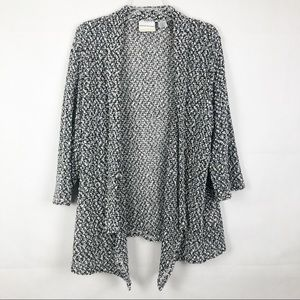 Alfred Dunner   Open Front Metalic Cardigan